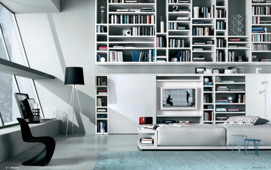 comfortable-classic-white-modular-shelving-modest-living-spaces
