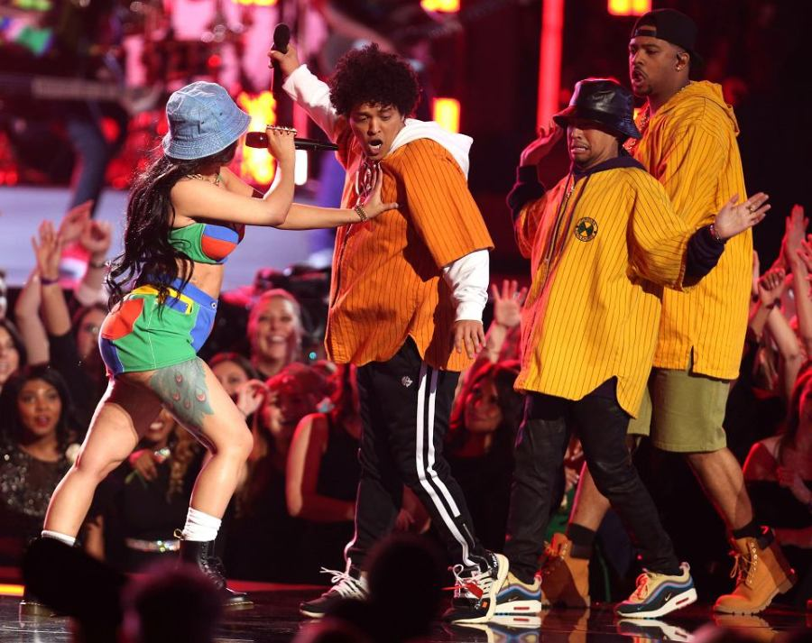 Bruno Mars and Cardi B Perform at 2018 Grammys